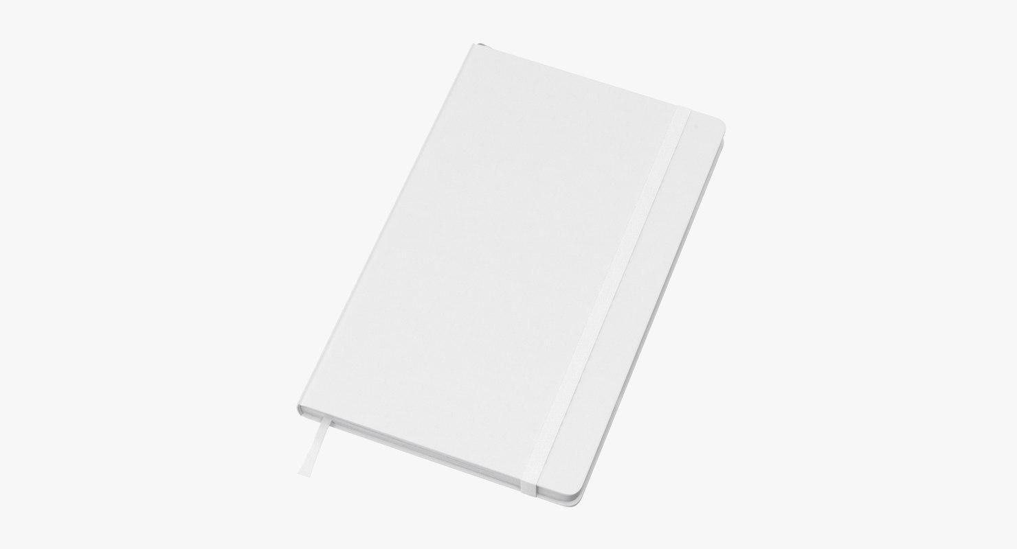3D moleskine sketchbook 01 model