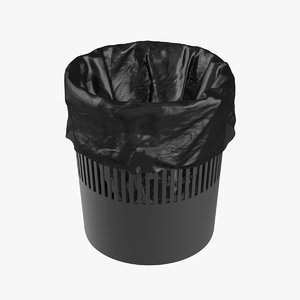 realistic trash bag 3D