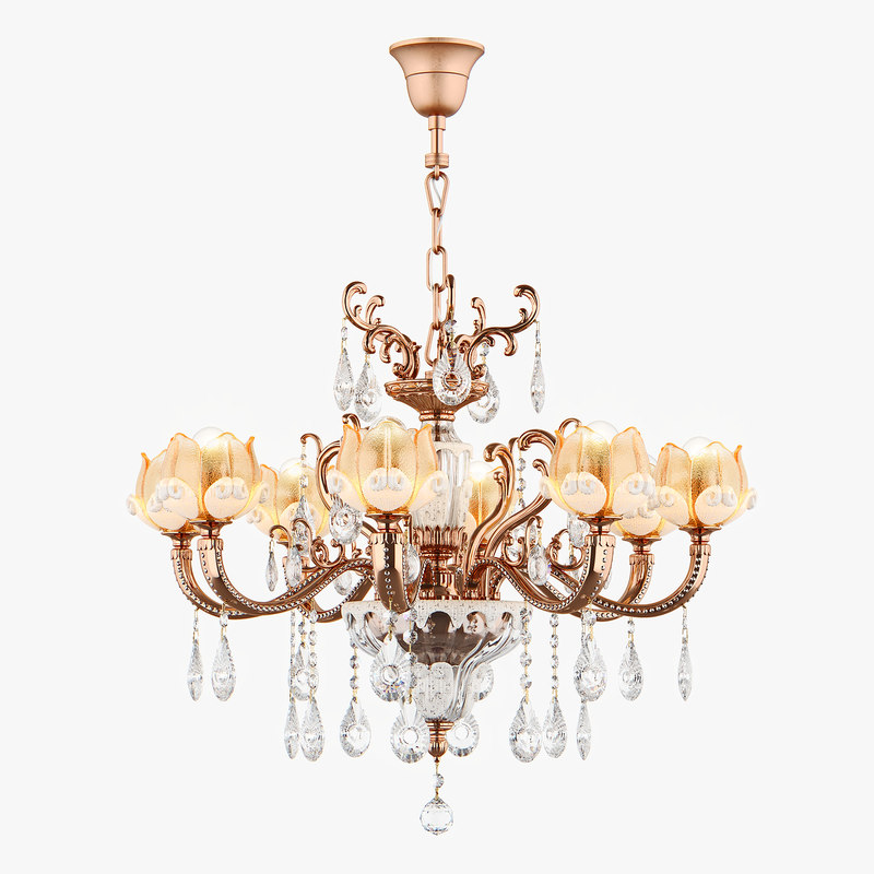 3D model chandelier md 6806-8 osgona