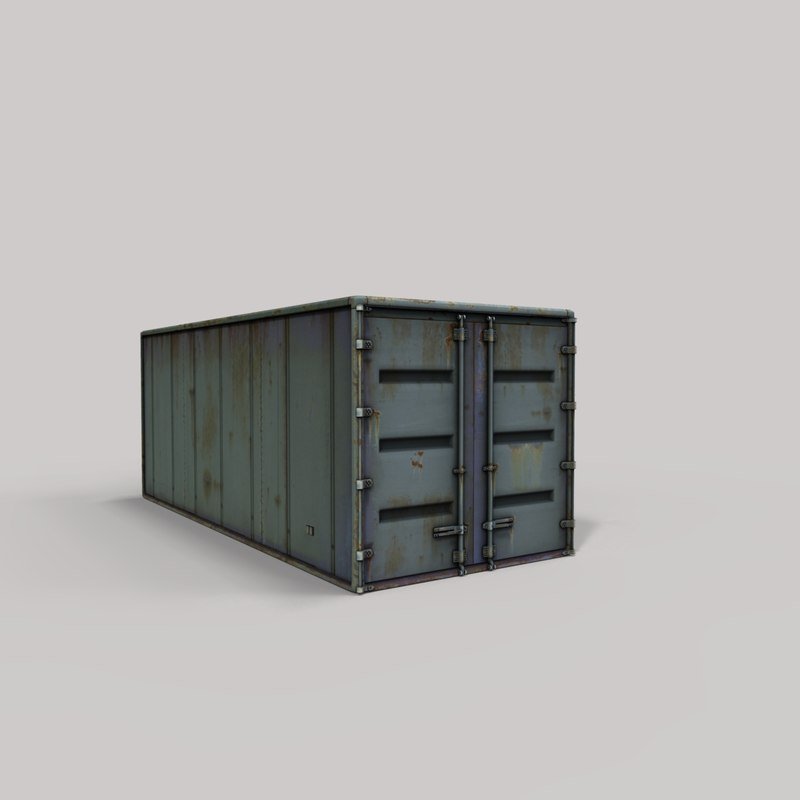 3D container modelled