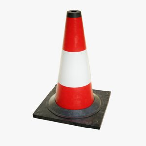 3D octane traffic cone model