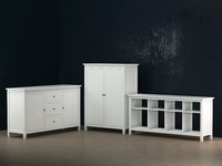 3D ikea white wood