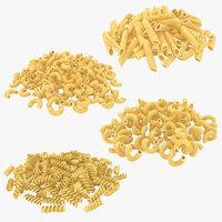 realistic dry pasta pile 3D model