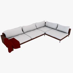 3D model designs luxury sofa