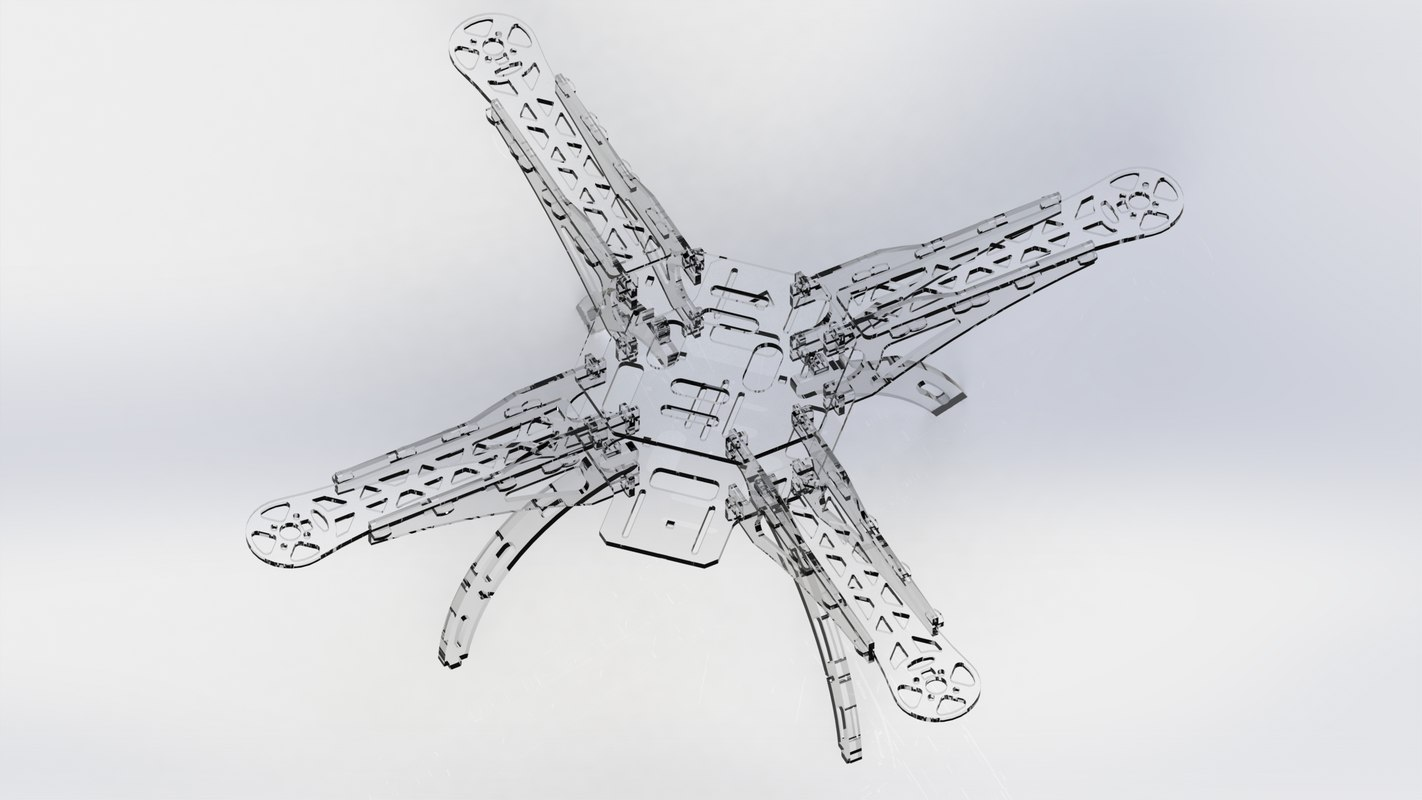 3D quadcopter frame 2d cutting model