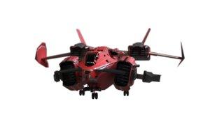 vtol ship 3D model