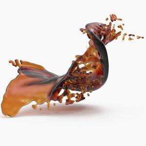 3D soda splash 3 model