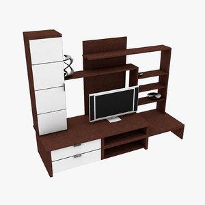 3D designs luxury tv set model