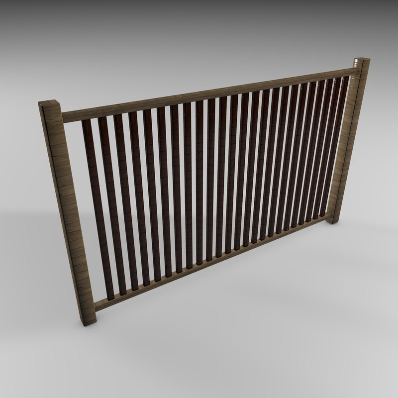 fence commercial work 3D