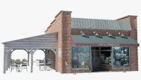 restaurant terrace 3D model
