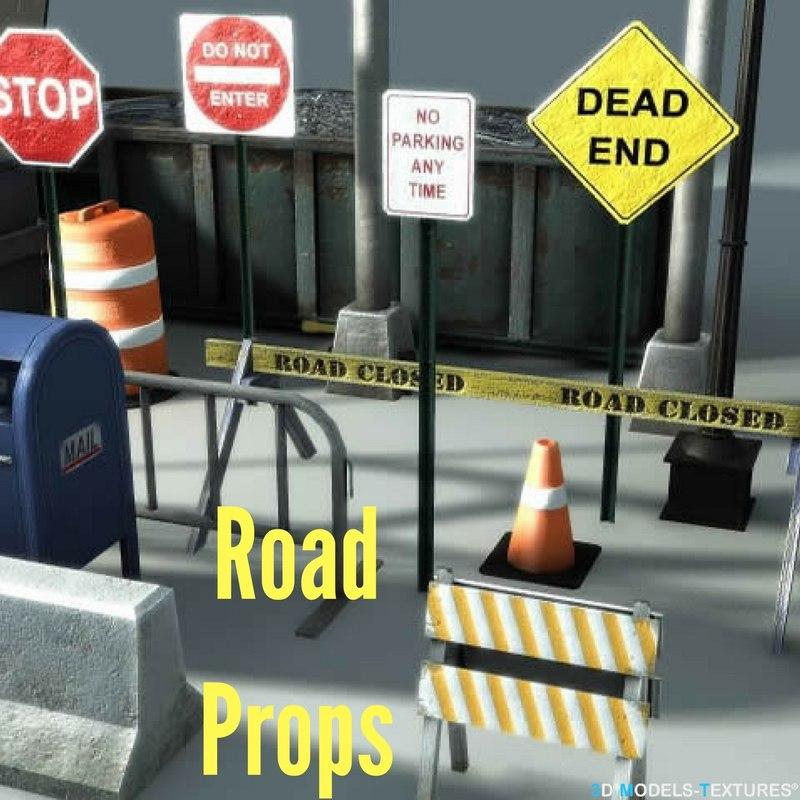3D road prop