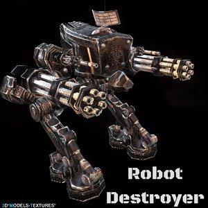 robot destroyer 3D model