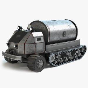 3D sci-fi tank truck