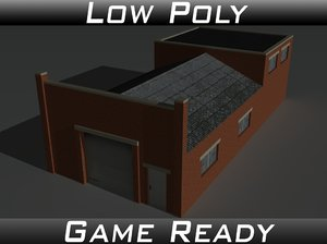 factory building 32 3D model