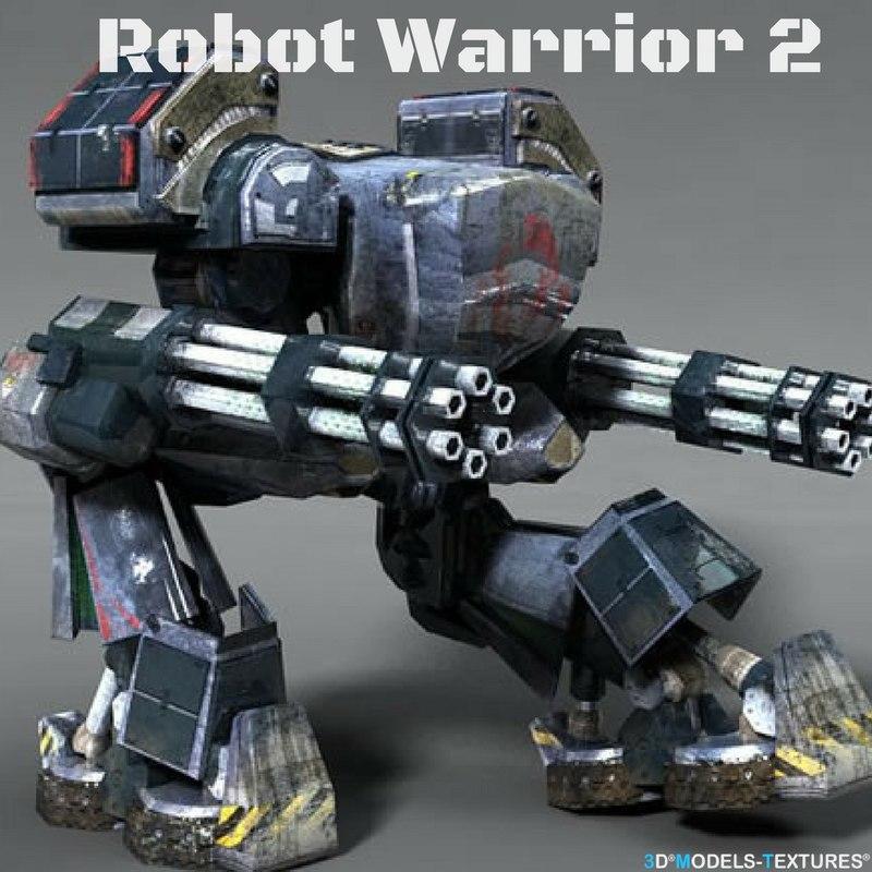 robot warrior 2 3D model