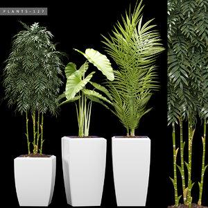 3D model plants 127 set