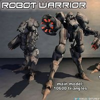 robot warrior 3D model