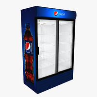 pepsi fridge sliding doors model