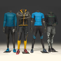 3D model man mannequin nike pack 1