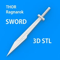 3D sword thor ragnarok model