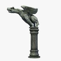 Gothic Statue 02