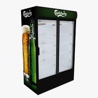 carlsberg fridge sliding doors 3D