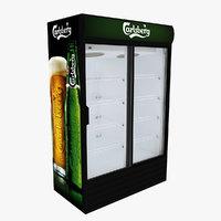 carlsberg fridge sliding doors 3D
