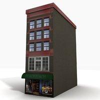 city building block 3D model