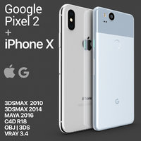 iphone x google pixel 3D model