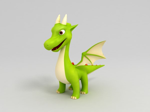 3D dragon cartoon