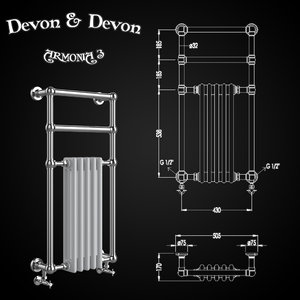heated towel rails devon 3D