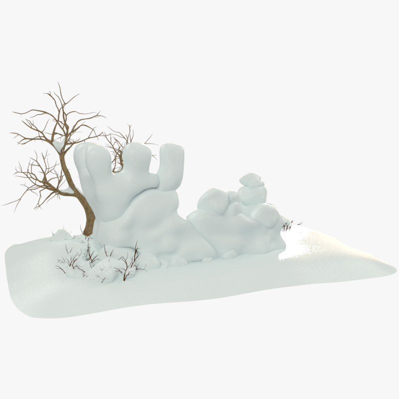 3D cartoon snow fortress