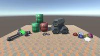 sci-fi industrial 3D model