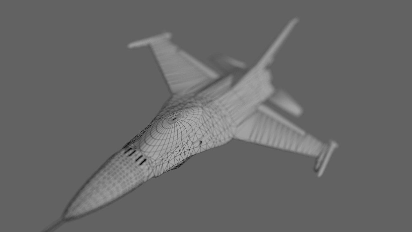 f-16 jet 3D model