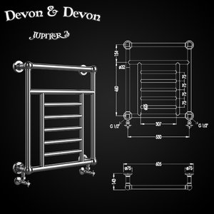 heated towel rails devon 3D model
