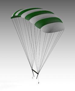 parachute chute chu 3D model