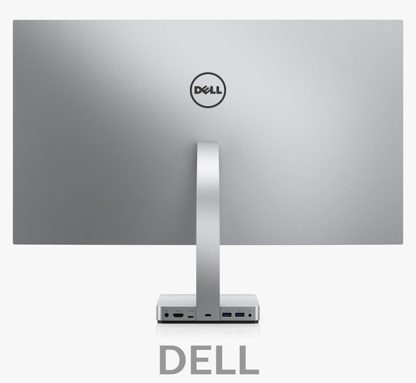 3D dell 27 ultrathin monitor model