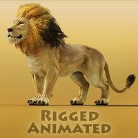 3D fantasy lion model