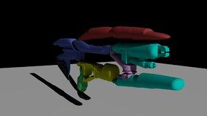3D toy gun