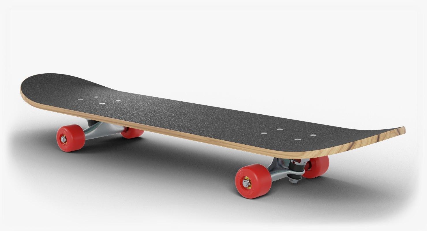 3D model deck axles wheel