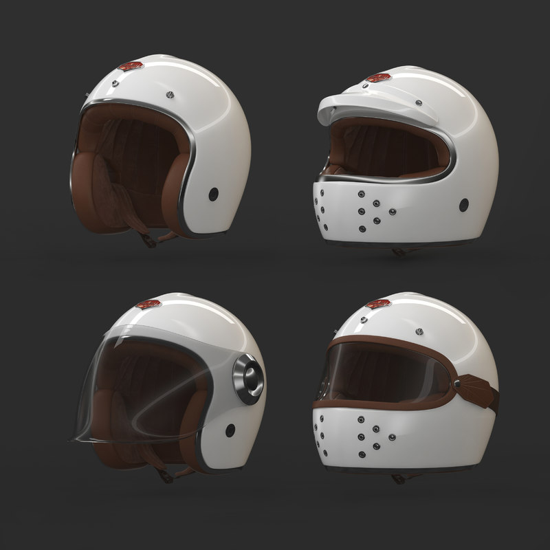 3d Ruby Motorcycle Helmet Model Turbosquid 1212371