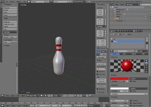 3D model bowling pin ball