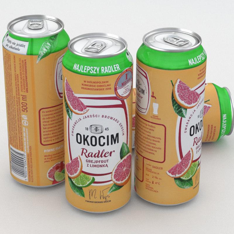 beer okocim 3D