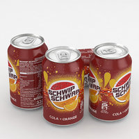 3D beverage cola orange model