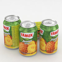 3D model beverage tamek pineapple