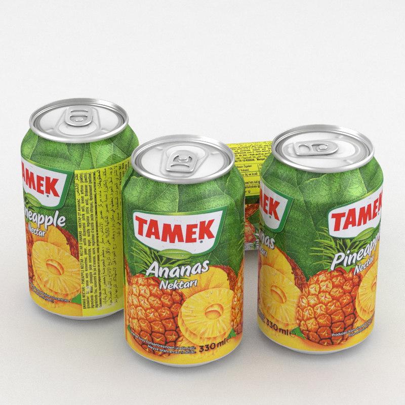3D model beverage tamek pineapple