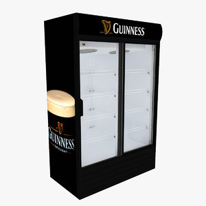 3D guinness fridge sliding doors