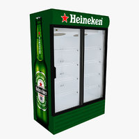 heineken fridge sliding doors 3D model