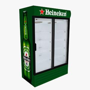 heineken fridge sliding doors 3D model