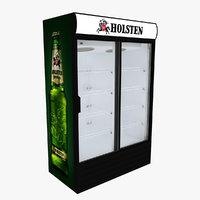 holsten fridge sliding doors 3D model